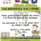 Affiche Les Mercredis sur l'herbe 2013