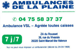 Ambulance de la plaine