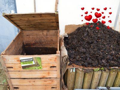 Le premier compost sorti de notre composteur collectif !