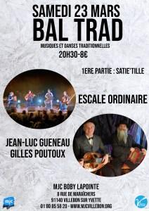 Bal Trad // Escale Ordinaire + Gueneau-Poutoux @ MJC BOBY LAPOINTE