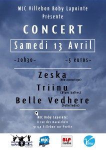 Concert // Zeska + Triinu + Belle Vedhere @ MJC BOBY LAPOINTE