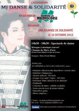 Affiche de la journée de solidarité le 14 octobre 2012