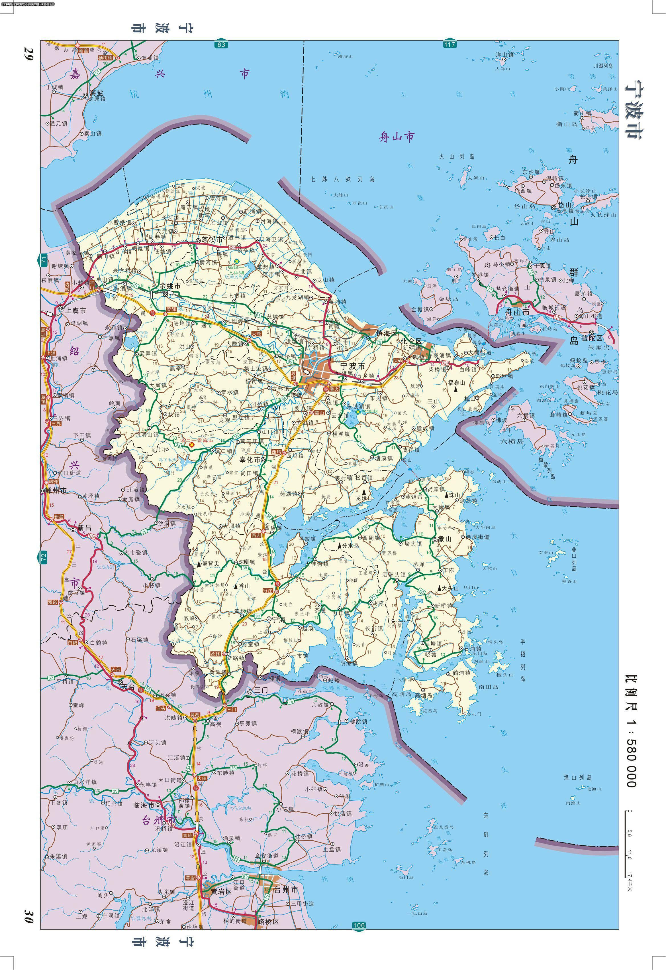 寧波市交通公路圖 - 浙江旅遊地圖 中國地圖 - 美景旅遊網