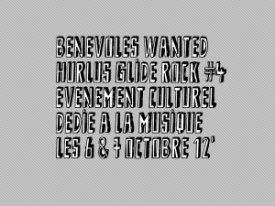 BENEVOLES WANTED !