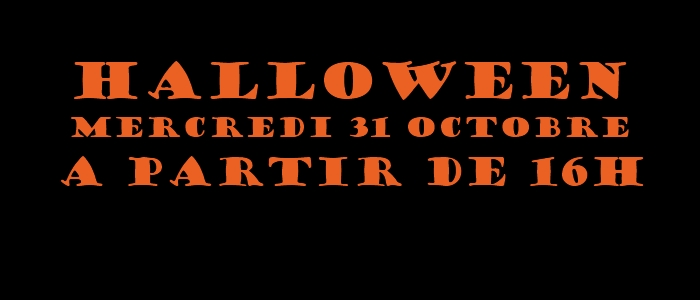 HALLOWEEN ! Mercredi 31 octobre…