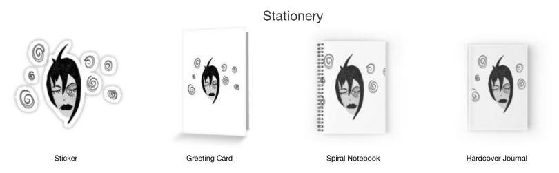 Darkly Dreaming stationary