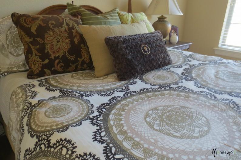 #duvet cover #brown and white duvet