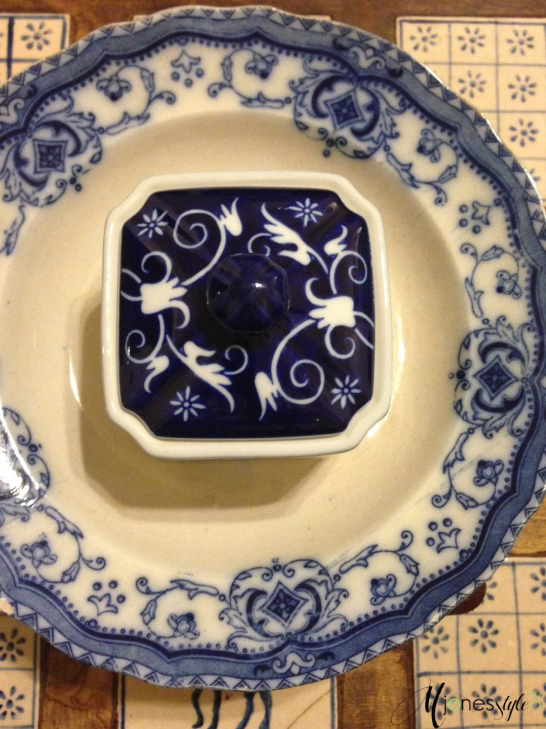 #blue and white dishes