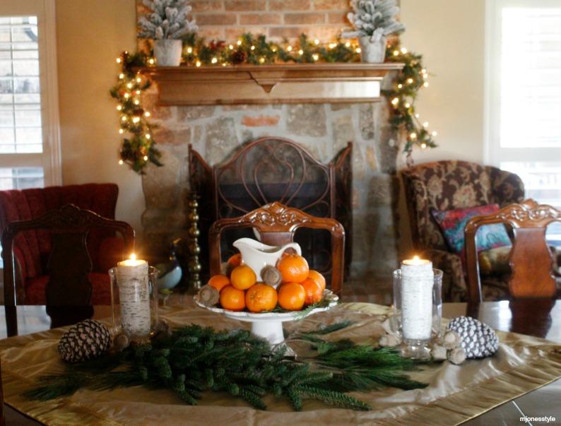 #christmascenterpiece #decoratingwithfruit