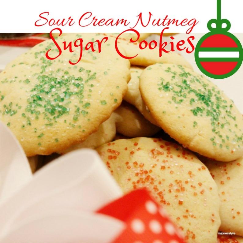 #sourcreamnutmegsugarcookies #sugarcookies #mjonesstylerecipes