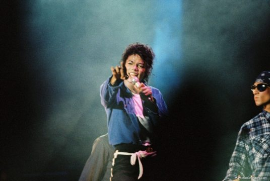 Michael on the 'BAD' tour