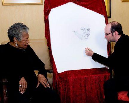 Maya Angelou adds her dot.