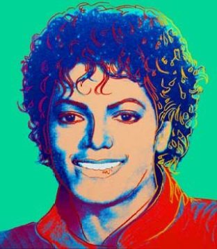 Andy Warhol's painting of MJ