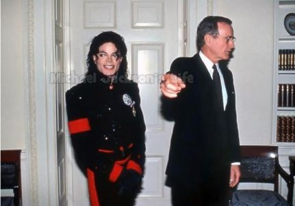 michael and george bush