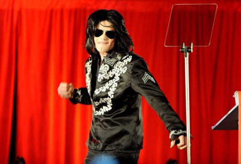 Michael at the Press Conference