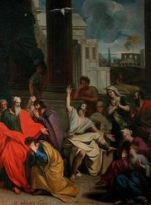 The Prophecy of Agabus, Painting by Louis Cheron