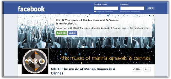 mk-o facebook page button