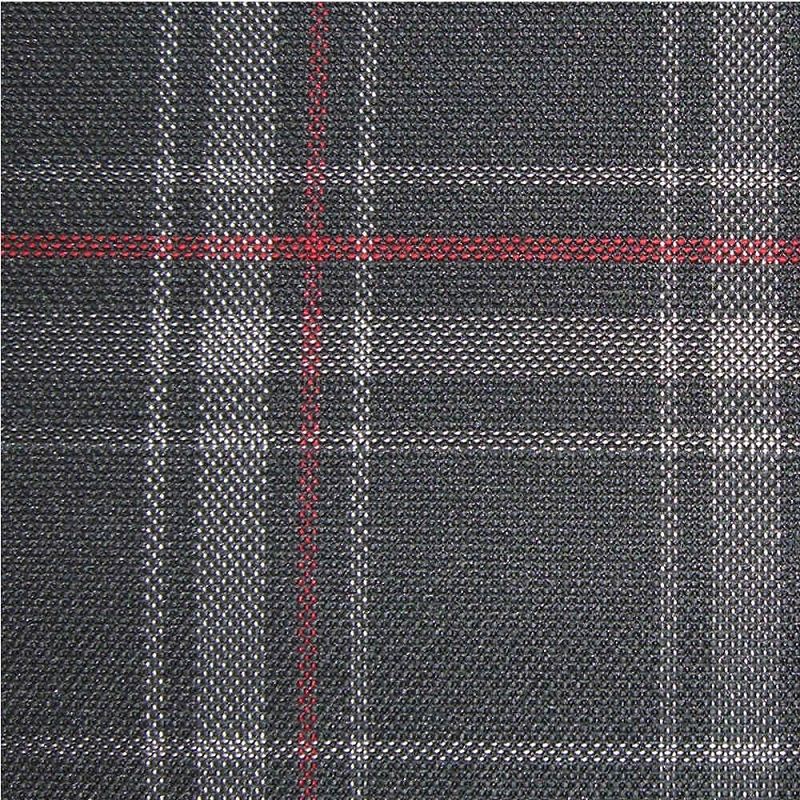 Upholstery By Linear Yard Grey Black Red Plaid