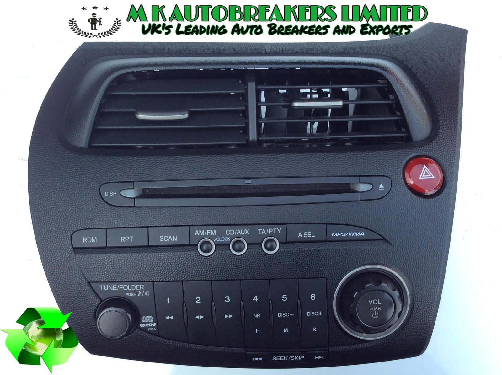 honda civic mk8 from 06 11 radio cd player mp3 mk. Black Bedroom Furniture Sets. Home Design Ideas