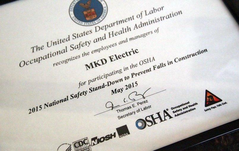 OSHA Safety Stand-down 2015
