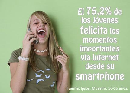 Marketing e Ideas_jóvenes felicitan smartphones