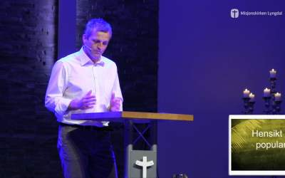 «Hensikt over popularitet» – Palmesøndag av Pastor Jim L. Foss