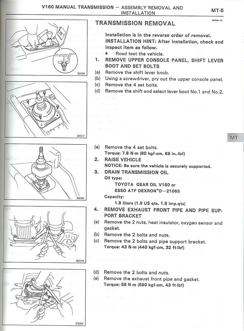 V160 Removal & Seals – MKIV com