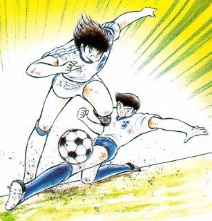 Tsubasa contre la défense solide de Soda