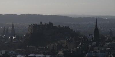 Edinburg Old Town seen from Arthur Seat