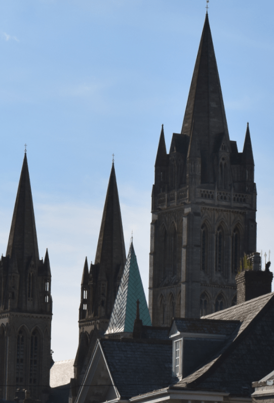 Truro Cathedral seen from bypass