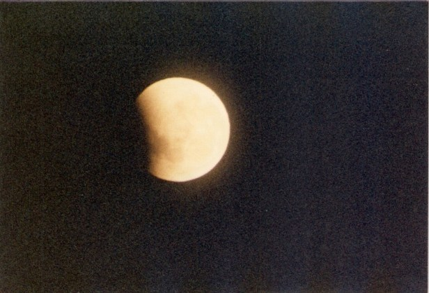 Partial phase of total lunar eclipse 1985