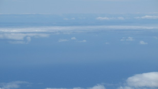 Clouds above Atlantic seen from Pico del Teide