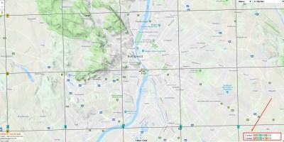 Google Maps MGRS grids Budapest