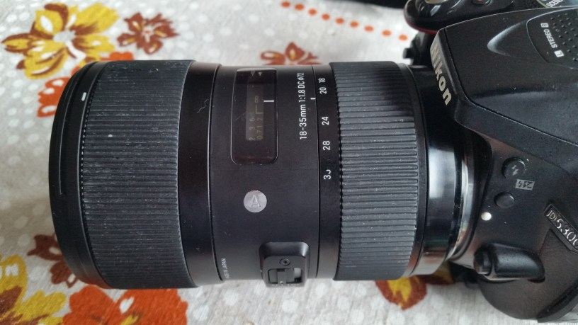 Sigma 18-35mm f/1.8 Art mounted on Nikon camera