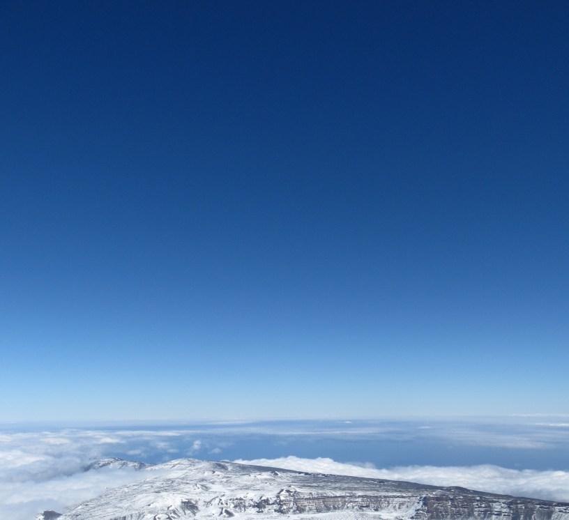 Daylight sky colour Pico del Teide, Tenerife