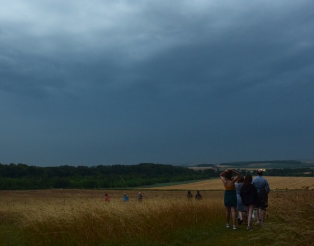 Little Trees Hill in Magog Hills near Cambridge and people awaiting for 2018 total lunar eclipse4