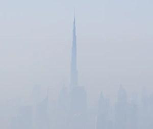 Burj Khalifa from the Emirates plane