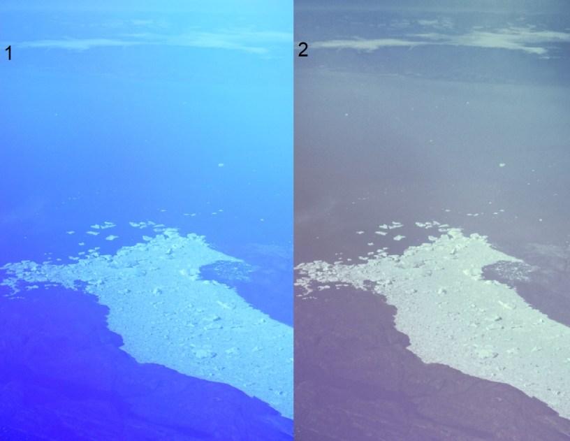 Darktable image processing, glacier on Greenland.2