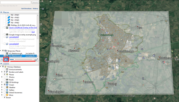 Google Earth GeoTiff raster map as the Super Overlay