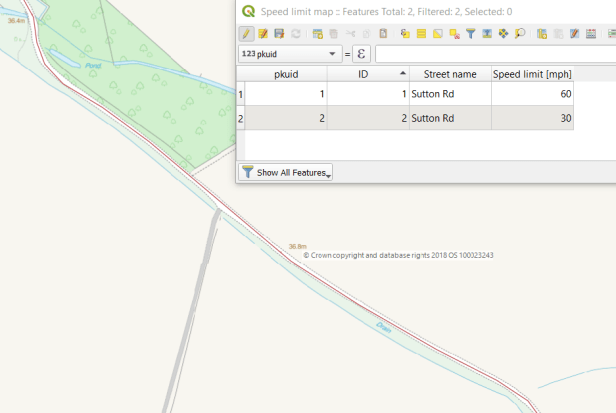 QGIS new spatialite layer with line and data attribute table