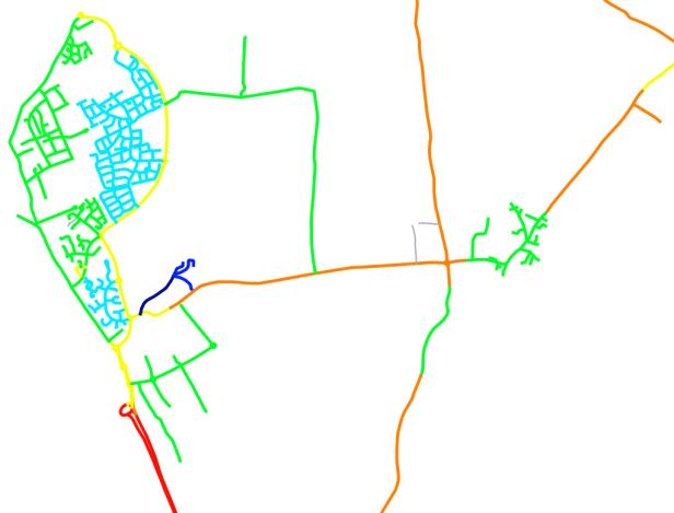 QGIS speed limit map ready