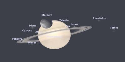 Occultation of Saturn by Mercury September 2037 Norilsk Russia