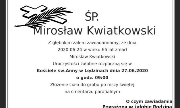 Pożegnanie Mirosława Kwiatkowskiego