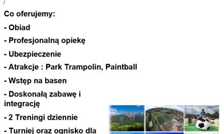 Ważne dokumenty dla uczestników obozu stacjonarnego!