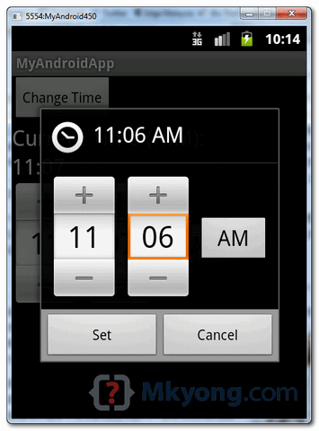android timepicker demo2