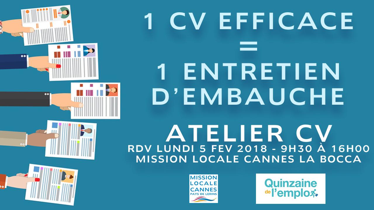 ATELIER CV Mission Locale Cannes Pays de Lérins