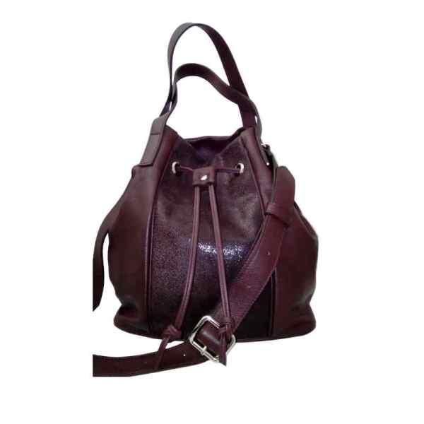 sac bourse en cuir bordeaux fabrication artisanale