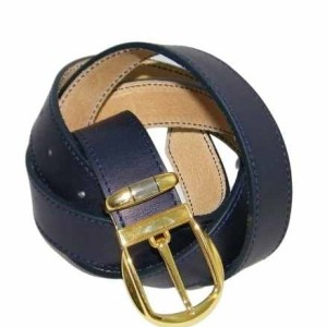 Ceinture en cuir bleu made in France