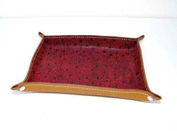 Vide-poche en cuir idée cadeau décoration intérieure