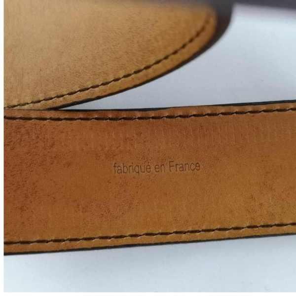 Ceinture en cuir marron pour homme artisanale made in France